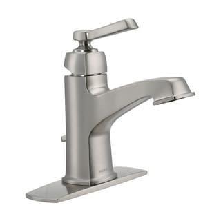 Clearance. Moen Boardwalk Single Handle Lavatory Faucet 4 In. Brushed Nickel