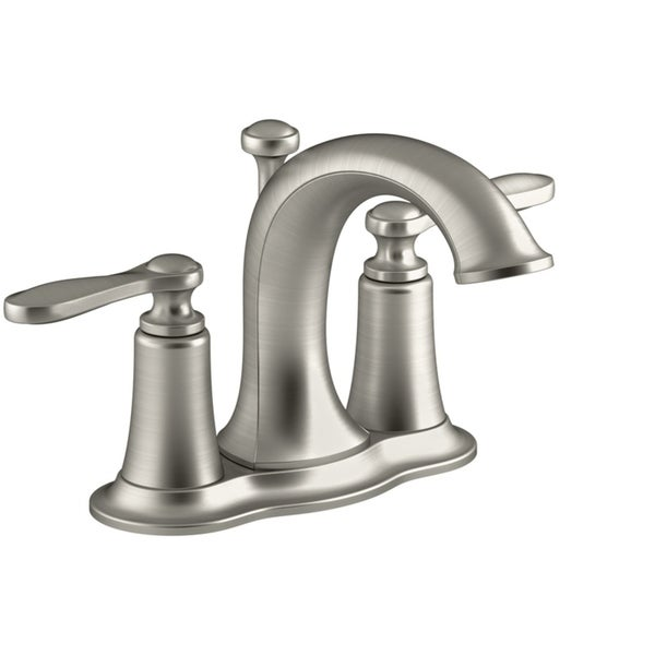 Shop Kohler Linwood Two Handle Lavatory Faucet 4 in. Brushed Nickel ...