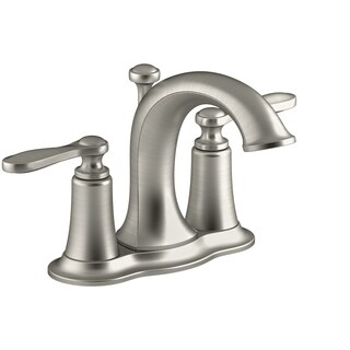 Kohler Linwood Two Handle Lavatory Faucet 4 in. Brushed Nickel