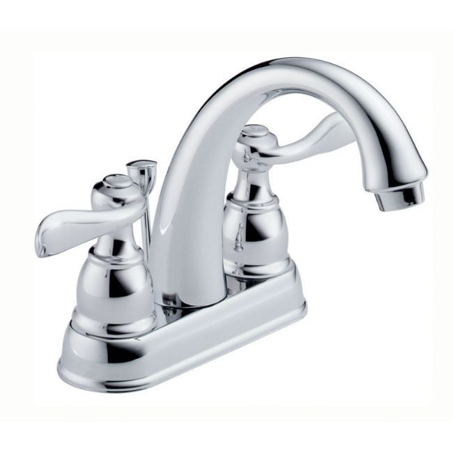 Delta Windemere Two Handle Lavatory Pop-Up Faucet 4 in. C...
