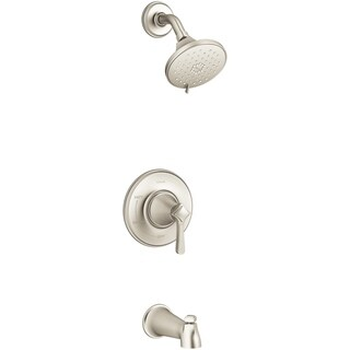 Kohler Georgeson 1 Handle Tub and Shower Faucet Brushed Nickel Metal
