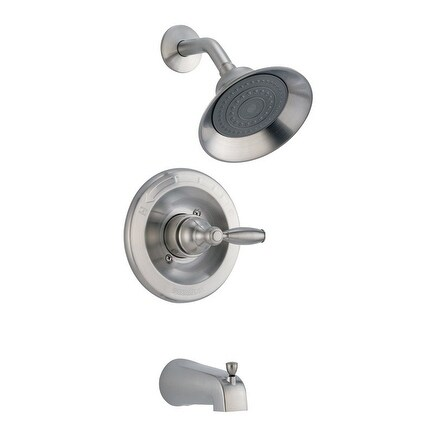 Shop Delta Tub And Shower Faucet 1 Handle Classic Brushed Nickel