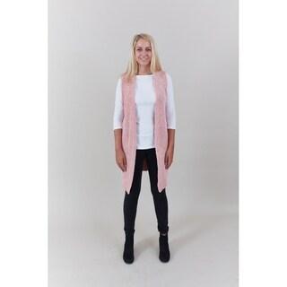 Le Nom Chenille Vest (Option: Pink)