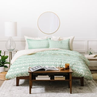 Craftbelly Retro Holiday Mint Duvet Cover Set (3 options available)