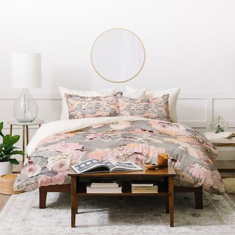 Deny Designs Vintage Dalia Floral Duvet Cover Set (3-Piece Set)
