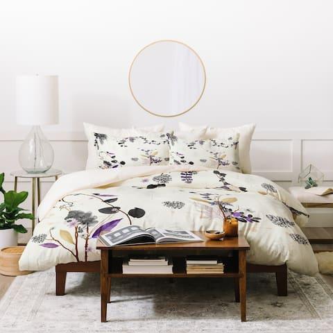 Deny Designs Florals and Pinecones Duvet Cover Set (3-Piece Set)