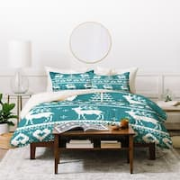 Natt Knitting Blue Deer Duvet Cover Set