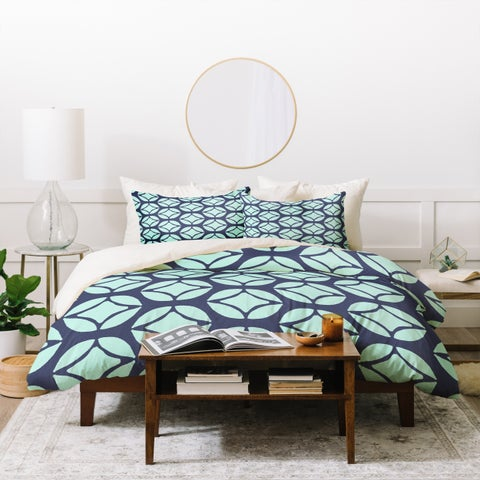 Deny Designs Bohemian Mod Blue Duvet Cover Set (3-Piece Set)