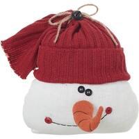 Transpac Knit Snowman Door Stopper