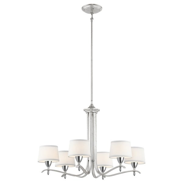 Kichler Lighting Cordova Collection 6-light Silver Leaf Chandelier - silver leaf