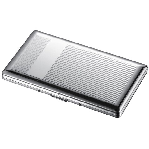 Visol Chase Chrome Cigarette Case - Holds 9 120mm Size Cigarettes