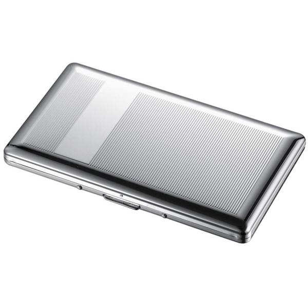 Visol Chase Chrome Cigarette Case - Holds 9 120mm Size Cigarettes