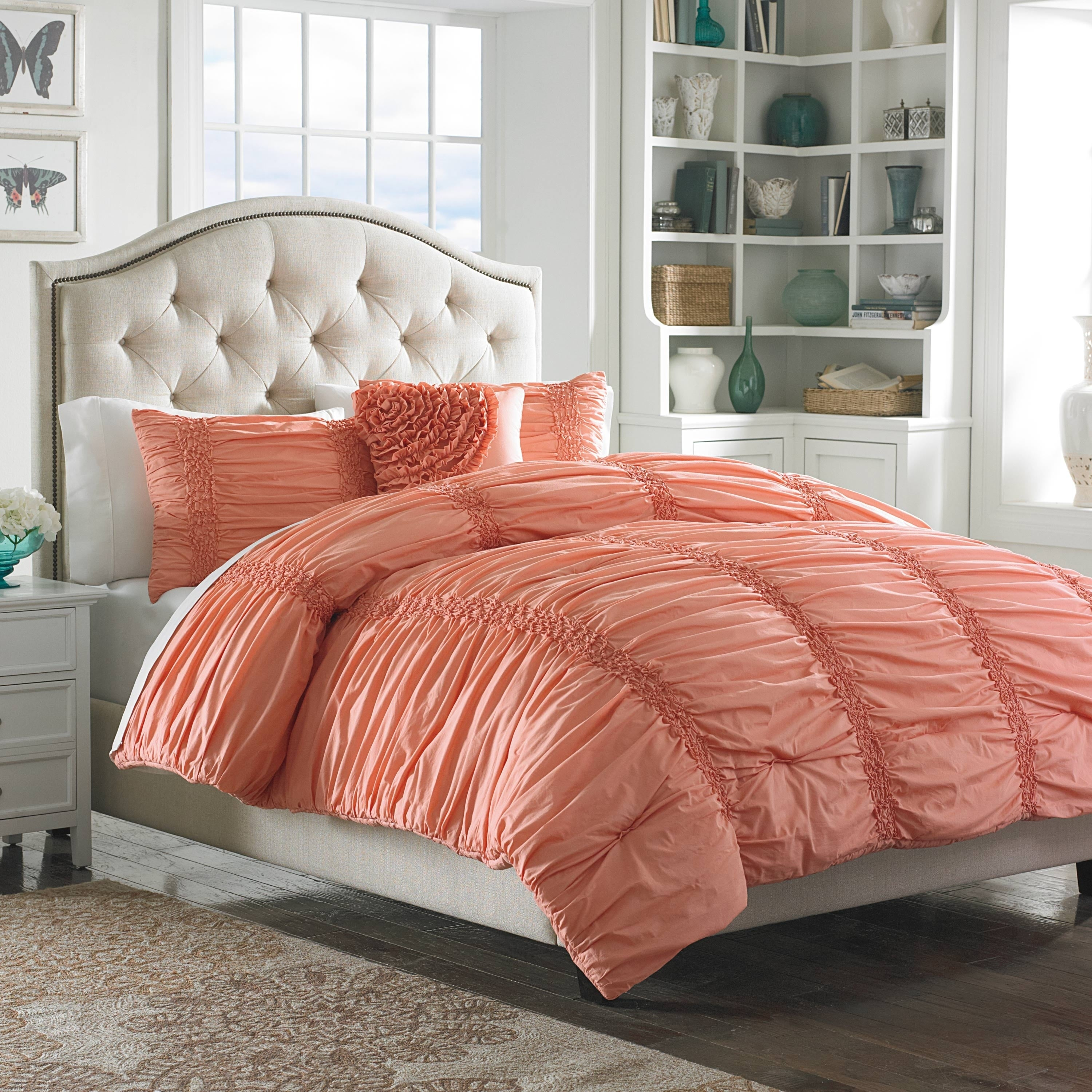 Full Queen Mary Janes Home Sweet Blooms Quilt Pink