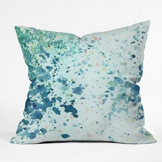 Social Proper Aqua Sap Crystal Throw Pillow
