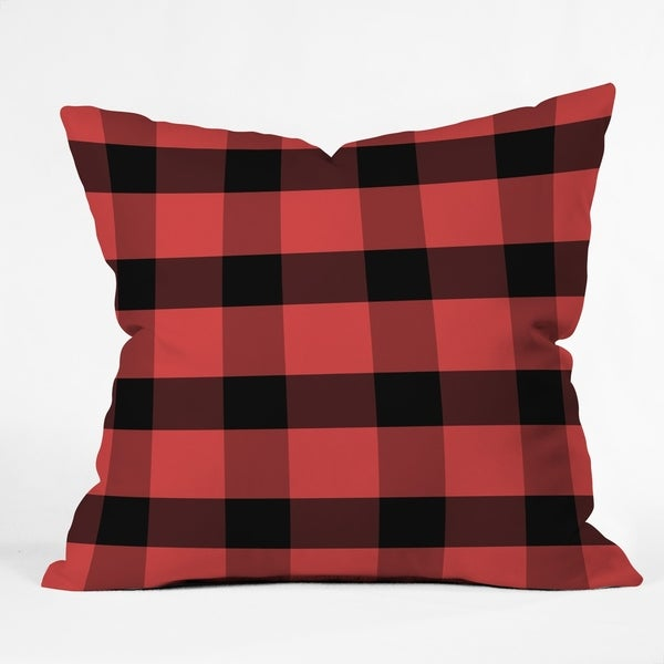 Allyson Johnson Winter Plaid Throw Pillow
