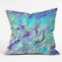 Rosie Brown Tempting Turquoise Throw Pillow