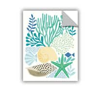 ArtAppealz Michael Mullan's Under Sea Treasures V Sea Glass, Removable Wall Art Mural