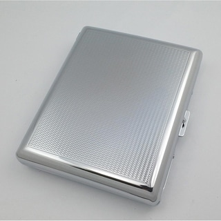 Visol Donnie Silver Plated Cigarette Case - Holds 20 100mm Sized Cigarettes