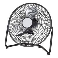 Aire One  High Velocity Fan  11.1 in. H x 11.3 in. L x 3.8 in. W x 9 in. Dia. 3 speed Electric  3 blade