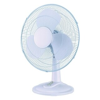 Pelonis Table Fan 16 in. H 3 speed Oscillating AC 3 blade White