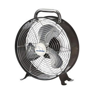 Polar Aire  Table Fan  9 in. H 3 speed AC  3 blade Metallic