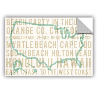ArtAppealz Michael Mullan's Bon Voyage USA, Removable Wall Art Mural (5 options available)