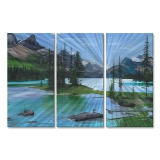 Metal Wall Art Maligne Lake Glen Frear