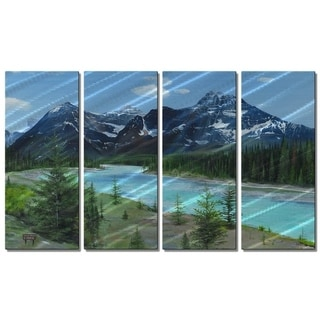 Metal Wall Art Athabasca River Glen Frear