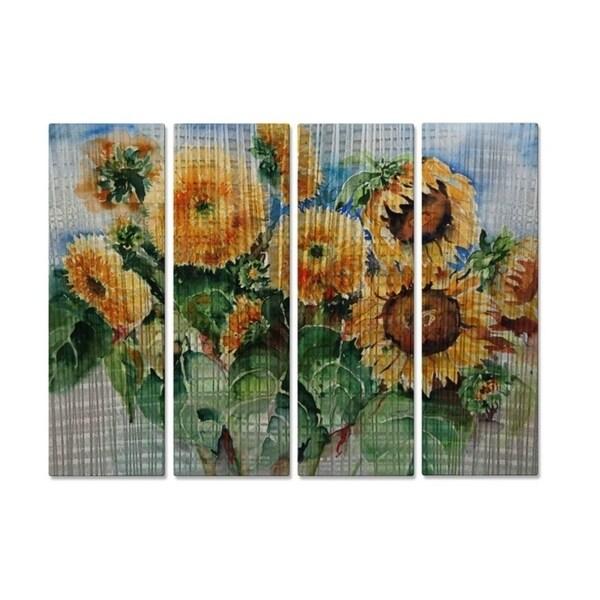 Metal Wall Art Sunflowers Ingrid Dohm