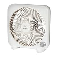Polar Aire  Box Fan  11.18 in. H x 10.63 in. L x 4.88 in. W x 9 in. Dia. 3 speed AC  3 blade White