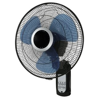 Pelonis Wall Mount Fan 23 in. H x 16 in. Dia. 3 speed Oscillating Electric 3 blade Black
