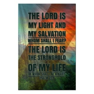 Metal Wall Art The Lord is my Light Ash Carl