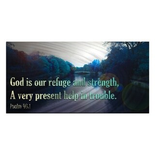 Metal Wall Art God is Our refuge Ash Carl
