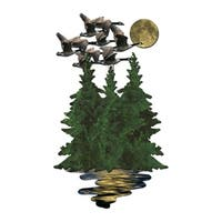 Metal Wall Art Geese over Pines Ash Carl