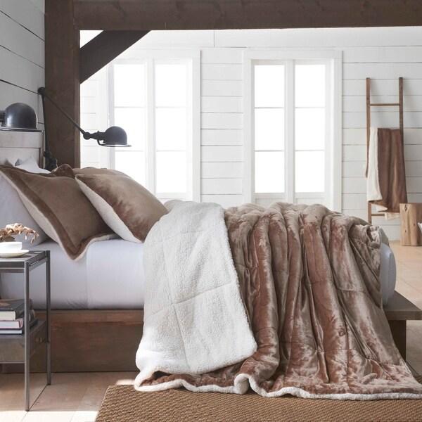 Vellux Plush/Sherpa Caramel Comforter Set. Opens flyout.
