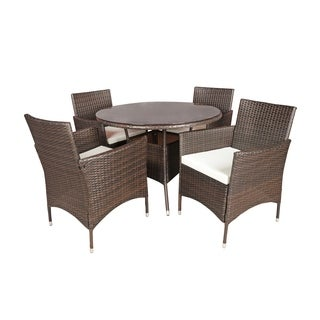 5 PC Outdoor Patio Table / Chairs Dining Furniture Set