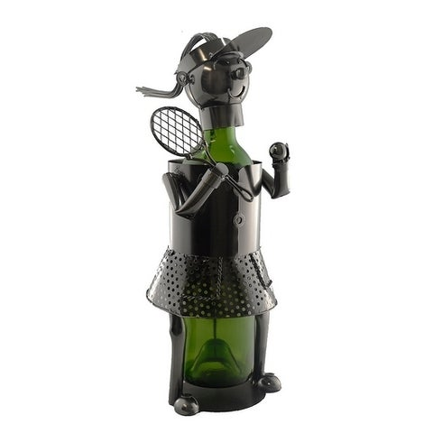 Wine bottle holder by Wine Bodies, Woman tennis player