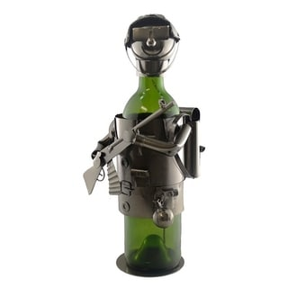 Wine bottle holder by Wine Bodies, military soldier