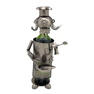 Wine bottle holder by Wine Bodies, Lady chef with pan