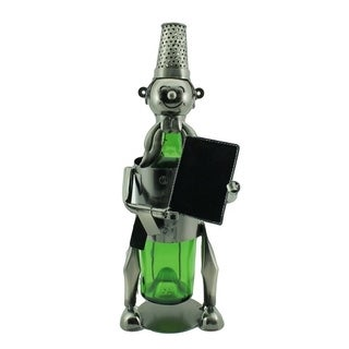 Wine bottle holder by Wine Bodies, Chef with sign board