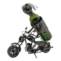 Wine bottle holder by Wine Bodies, Harley motorcycle rider