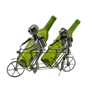 Wine bottle holder by Wine Bodies, Tandem bicycle riders