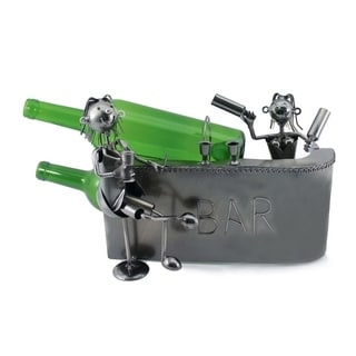 Wine bottle holder by Wine Bodies, Couple at the Bar