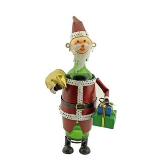 Wine bottle holder by Wine Bodies, Santa Claus with gift boxes