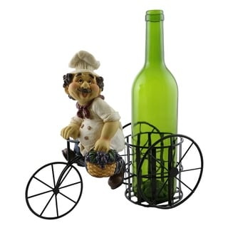 Wine bottle holder by Wine Bodies, Tricycle rider chef with grapes