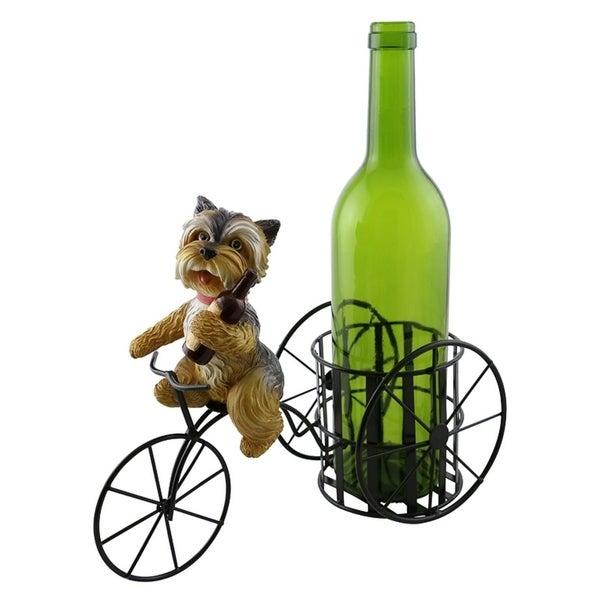 Wine bottle holder by Wine Bodies, Tricycle rider Dog