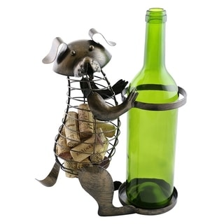 Wine bottle and cork holder by Wine Bodies, Dog holding the bottle