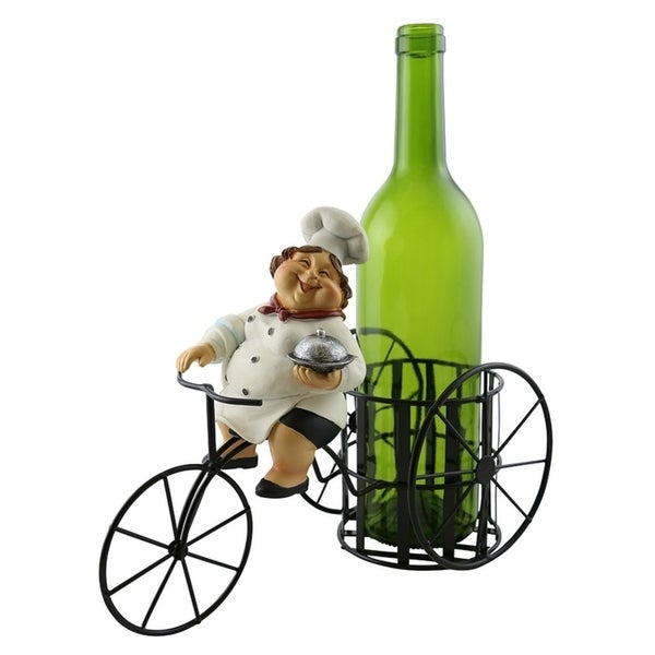 Wine bottle holder by Wine Bodies, Tricycle rider Old Lady Chef