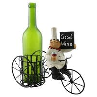 Wine bottle holder by Wine Bodies, Tricycle rider chubby chef with sign