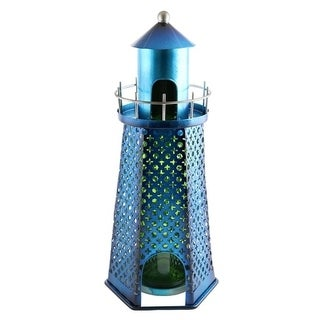 Wine bottle holder by Wine Bodies, Turquoise blue Light House